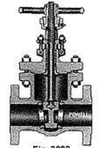 William Powell Co 3003 Series 8 in. Cast Carbon Steel Standard Port Butt Weld Gate Valve P3003IC8GXXX