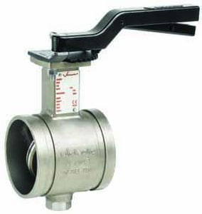 Victaulic Series 763 4 in. Stainless Steel EPDM Locking Lever Handle Butterfly Valve VV040763XE3