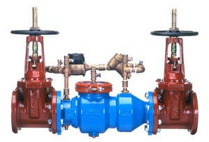 350DA Series 6 in. Flanged Ductile Iron Double Check Detector Assembly (Less Valve) W350DALU