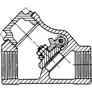 Crane Valve/Crane Energy Flow Sol Figure 49 1 in. 316L Stainless Steel Threaded Check Valve C49G