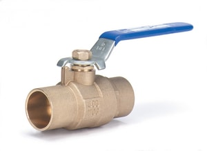 Milwaukee Valve BA-200 1-1/2 in. Forged Brass Reduced Port Threaded 400# Ball Valve MBA200J