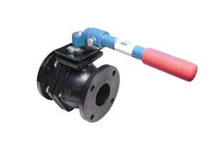 4000 Series 2-1/2 in. Cast Iron Full Port Flanged 200# Ball Valve A4000