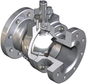 WKM 310 Series 3 in. 316 Stainless Steel Full Port Flanged 600# Ball Valve WB182S843S2WRM