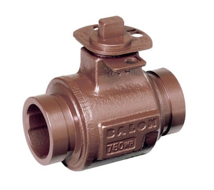 Balon Corporation Series S 3 in. Ductile Iron Reduced Port Grooved 750# Ball Valve BRS32NGE