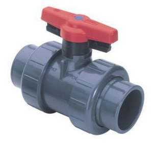 True Union 2000 - Industrial 3 in. CPVC Standard Port Union Socket Weld 235# Ball Valve S1822030C