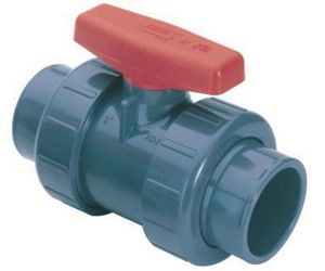 True Union - Regular 1 in. PVC Standard Port Union FIPT and Union Socket Weld 235# Ball Valve S23290