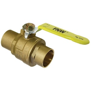 FNW 3 in. DZR Brass Full Port Sweat 600# Ball Valve FNW411A