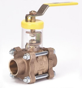 Milwaukee Valve BA-350 3/4 in. Cast Bronze Solder 600# Ball Valve MBA350XHF