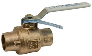 Apollo Conbraco 77CLF-A Series 3/4 in. Bronze Full Port Solder 600# Ball Valve A77CLF20401A