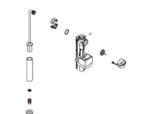 Kohler Fill Valve for K-3360 and K-14224 Toilet K1007490