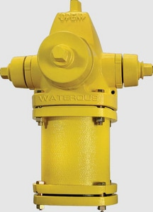 Waterous Pacer® 5 ft. Mechanical Joint Assembled Fire Hydrant AFCWB67LAOLREDSZ