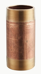 4 x 6-1/2 in. Threaded Domestic Brass Nipple DBRNPV