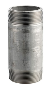 1-1/4 x 3-1/2 in. Threaded Schedule 40 316L Stainless Steel Nipple DS46SNHN