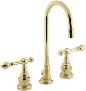Kohler IV Georges Brass® 1.2 gpm Double Lever Handle Lavatory Faucet in Vibrant Polished Brass K6813-4-PB