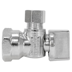 NIBCO Pro-Stop® 3/8 in Ribbed Handle Angle Supply Stop Valve N7155LFCC