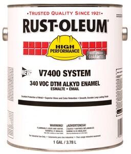 Rust-Oleum® V7400 System 1 Gallon Hydrant Enamel Paint in High Gloss Black R245403 at Pollardwater