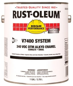 Rust-oleum V7400 System 1 Gallon Hydrant Enamel Paint in High Gloss White R245406 at Pollardwater