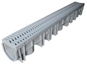 Fernco Channel Plus and Grey Grate Assembly Grey FFSDPCHGG