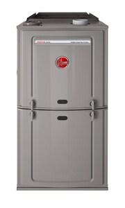 Rheem Prestige™ 17-1/2 in. 50000 BTU 80% AFUE 3 Ton Two-Stage Upflow and Horizontal 1/2 hp Natural or Propane Furnace R802VA050317MSA