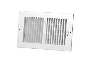 PROSELECT® 10 x 4 in. Residential Ceiling & Sidewall Register in White 2-way Steel PS2WWML10P