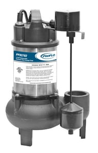 PROFLO® 15-1/2 in. 1/2 hp 140 gpm 120V Sewage Pump with Vertical Switch PF93782