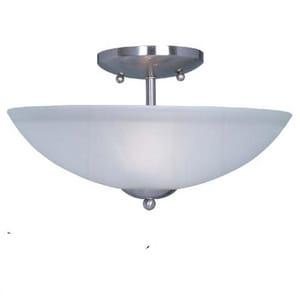 Maxim Lighting International 60W 2-Light Incandescent Medium Ceiling Light in Satin Nickel M45523217