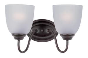 Maxim 60W 2-Light Incandescent Bracket in Oil Rubbed Bronze M45557223