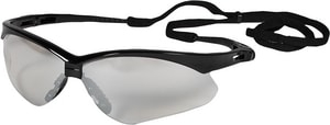 Jackson Safety Nemesis™ Safety Glasses With Neck Cord in Clear Lens and Black Frame J25685