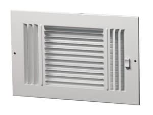 PROSELECT® 8 in. Ceiling & Sidewall Register Residential in White 3-way Steel PS3WW10