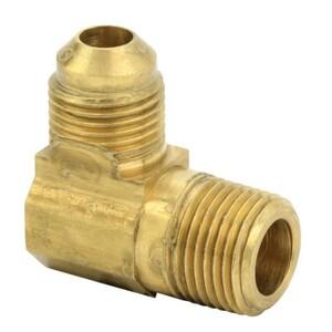 Brass Craft 3/8 in. OD Flare x MIP Brass Elbow BRA4966