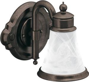 Moen Waterhill™ 1-Light Globe Bath Light in Brushed Nickel MYB9861BN