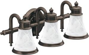 Moen Waterhill™ 3-Light Medium Base Globe Bath Vanity in Polished Chrome CSIYB9863