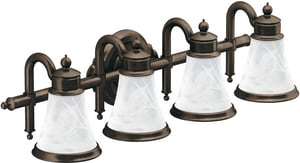 Moen Waterhill™ 4 Light 400W Globe Bath Light Oil Rubbed Bronze MYB9864ORB