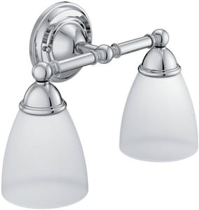 Moen Brantford™ 100W 2-Light Medium Bath Bracket Fixture in Polished Chrome CSIYB2262