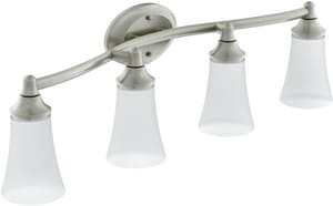 Moen Eva™ 100W 4-Light Medium Bracket Fixture in Brushed Nickel MYB2864BN