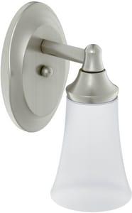 Moen Eva™ 100W 1-Light Medium Base Incandescent Sconce in Brushed Nickel MYB2861BN