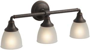 KOHLER Devonshire® 3 Light 100W Up or Down Facing Wall Sconce Oil Rubbed Bronze K10572-2BZ