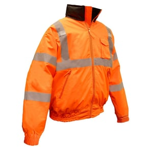 Radians XL Size Hi-Viz Weather Proof Bomber Jacket RSJ11Q3ZOSXL at Pollardwater