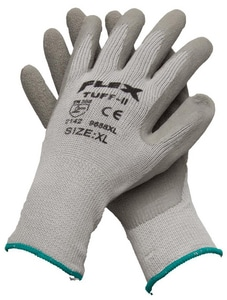 PROSELECT® Latex Dipped Cotton and Plastic Chemical Resistant Gloves in Grey PSG1755 at Pollardwater