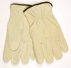 PROSELECT® Size L Grain Leather General Duty Cowhide Driver Gloves in Cream PSG20153 at Pollardwater