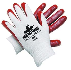 Memphis Glove UltraTech® XL Size Nitrile Dip Cotton Glove in Red M9684XL
