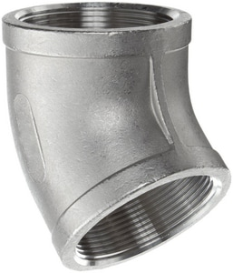 1-1/4 in. Threaded 150# 304L Stainless Steel 45 Degree Elbow IS4CT4H