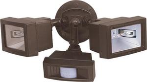 Nuvo Lighting Twin Mini Halogen 2-Light Mini Halogen Flood Light with Motion Sensor in Bronze N76507