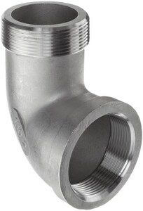 3/8 in. Threaded 150# 316 Stainless Steel Street 90 Degree Elbow IS6CTS9C