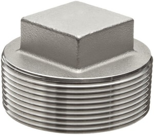 3/4 in. Threaded 150# 304L Stainless Steel Square Plug IS4CTSPF