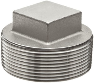 1-1/4 in. Threaded 150# 316 Stainless Steel Square Head Plug IS6CTSPH