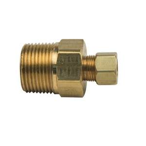 Brass Craft 7/8 x 3/4 in. OD Tube x MIP Brass Compression Reducing Adaptor B681412X