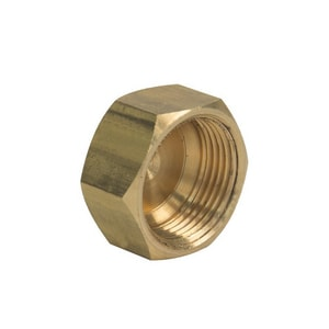 Brass Craft 5/8 in. OD Compression Brass Cap B61CP10X
