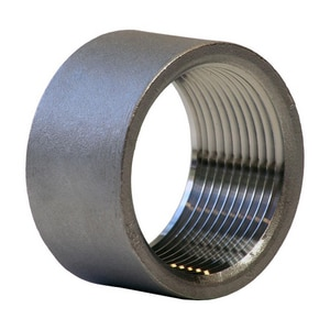 1 in. Threaded 150# 304 Stainless Steel Half Coupling IS4BSTHCSP114G
