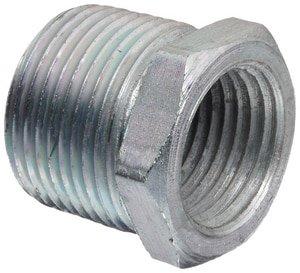 1 x 3/4 in. MNPT x FNPT Galvanized Malleable Iron Bushing IGBGF